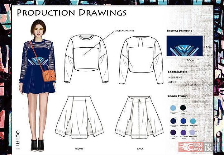 服装款式图1-女装设计-服装设计
