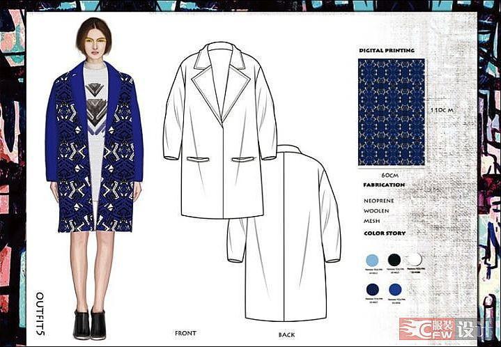 服装款式图2-女装设计-服装设计
