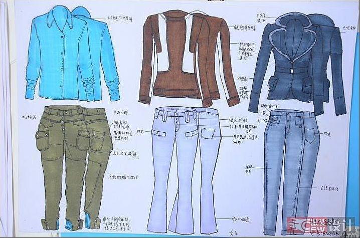 女装套装-女装设计-服装设计