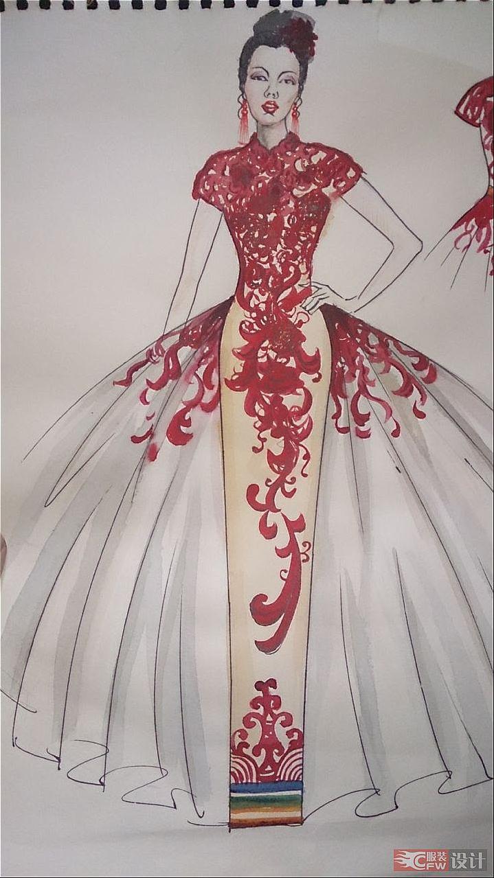 典雅服装手绘图