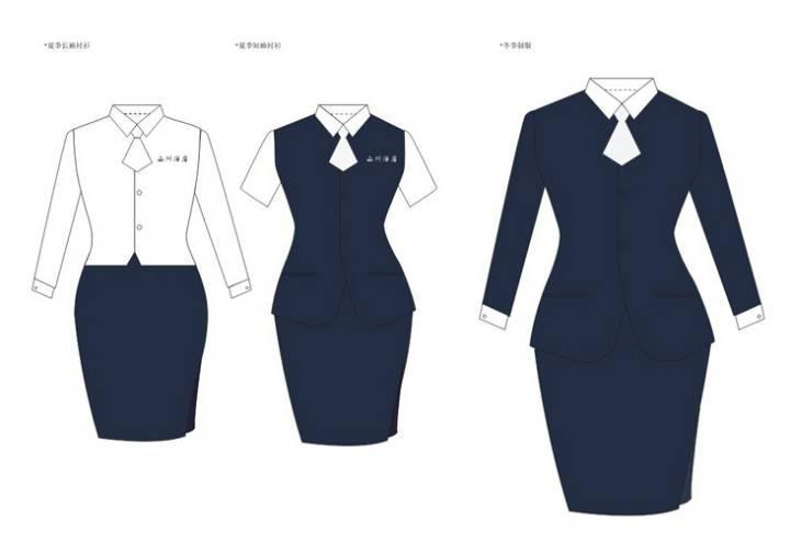 职业装设计-职业服装设计-服装设计