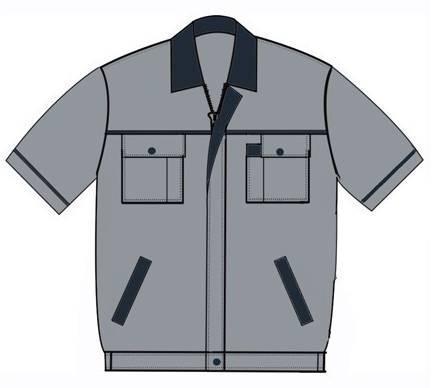 工装款式工装-职业服装设计-服装设计