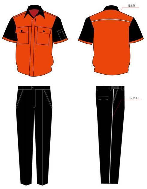 工作服款式工装-职业服装设计-服装设计