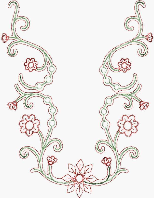 绣花图案收集-图案设计设计-服装设计
