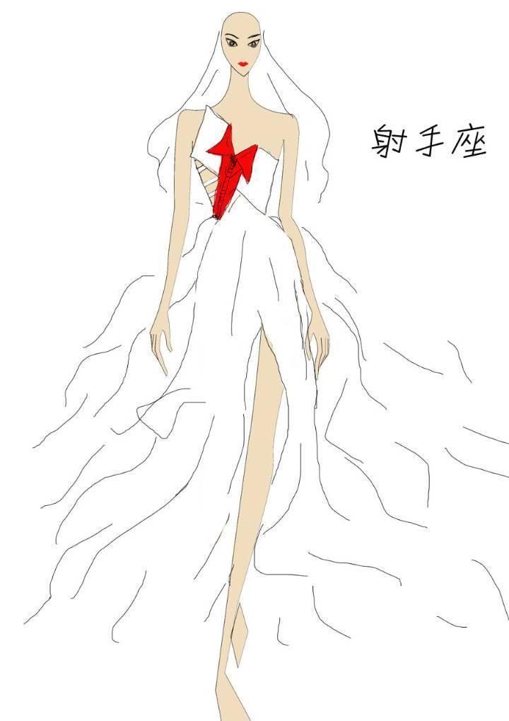 十二星座之射手座-婚纱礼服设计-服装设计