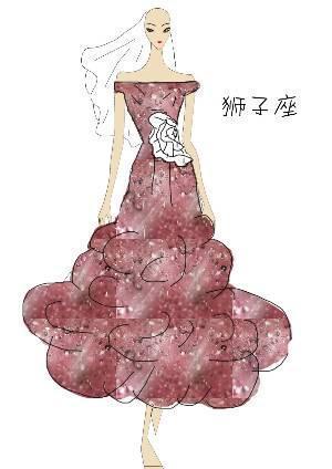 十二星座之狮子座-婚纱礼服设计-服装设计-服装设计网