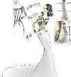 婚纱设计手稿手绘效果图