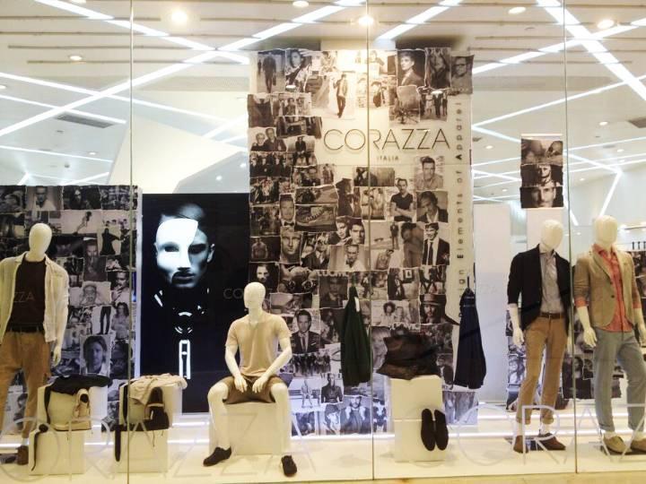 卖场男装橱窗陈列设计 服装展示