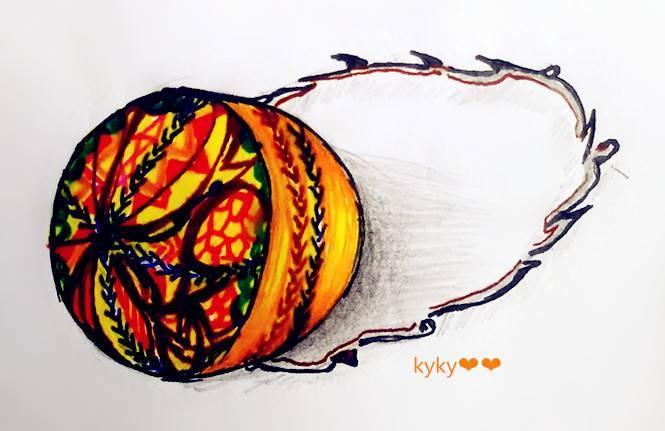 橘色民族风链包(配饰设计手稿)-鞋帽配饰设计-服装设计