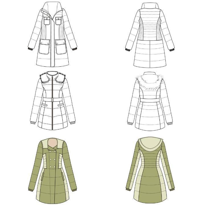 羽绒服作品-羽绒服款式图