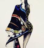 民族时尚手绘效果图