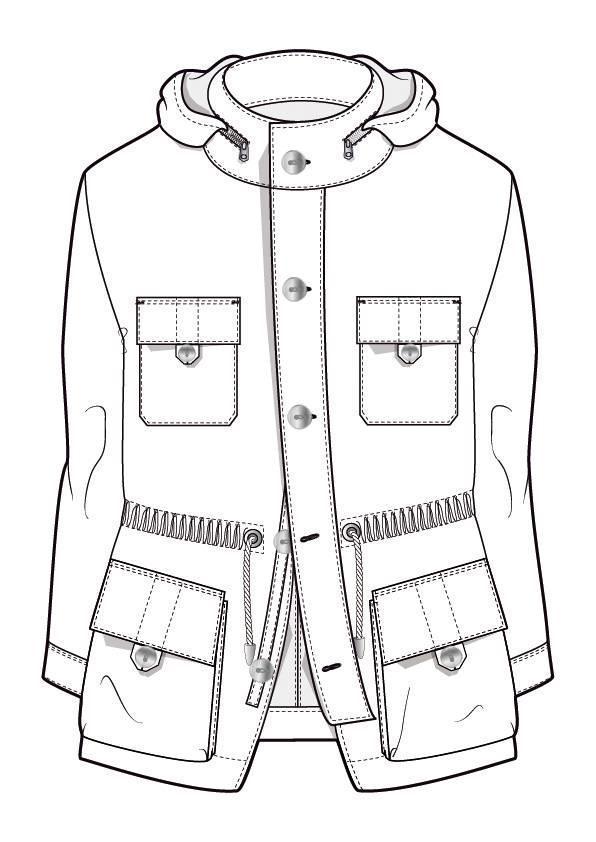 男风衣外套服装款式图衣服款式图收集