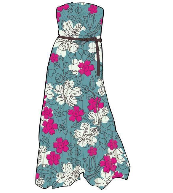 连衣裙服装款式图衣服款式图收集