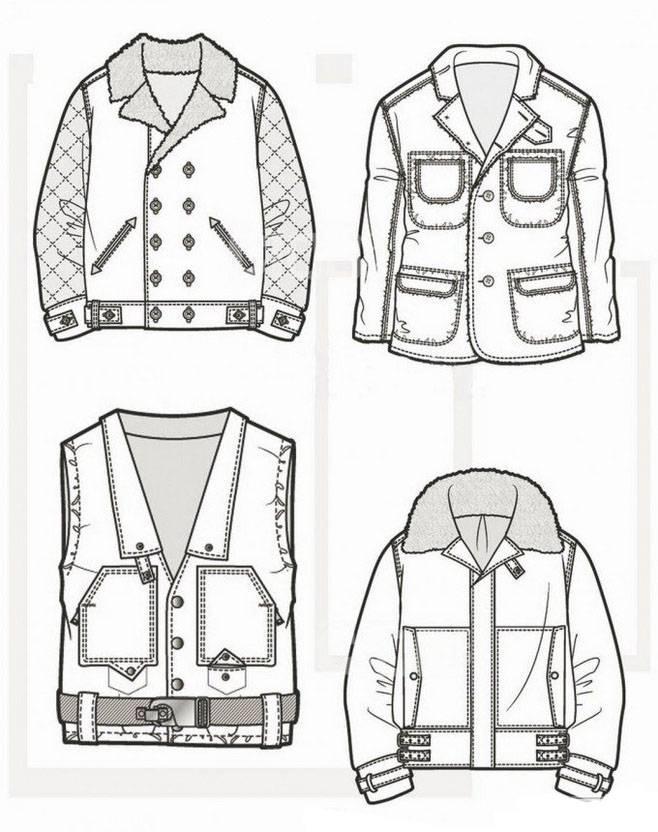 男士外套服装款式图收集-男装设计-服装设计