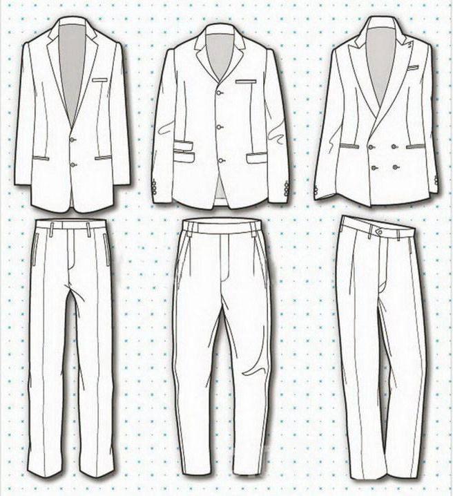 时装休闲西装款式图收集
