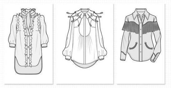 女时装上衣服装款式图收集