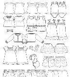 童装服装款式图收集
