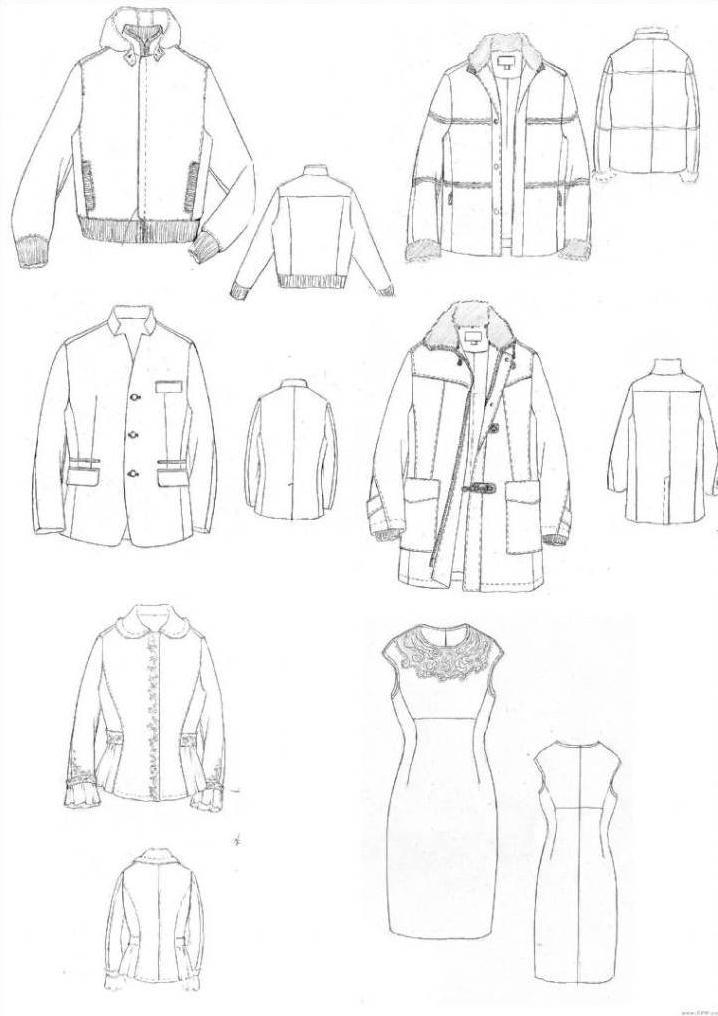 手绘服装款式图衣服款式图手稿