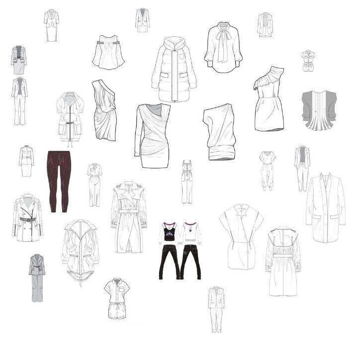 各种女服装款式图衣服款式图收集