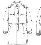 男装大衣风衣手稿款式图