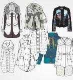 女时装棉服服装款式图收集