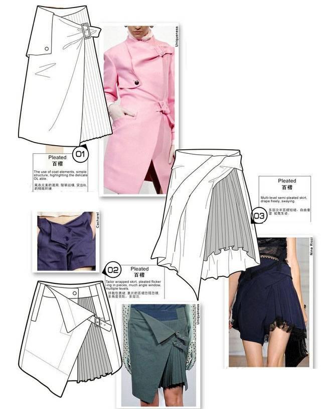 裙子款式图收集-女装设计-服装设计