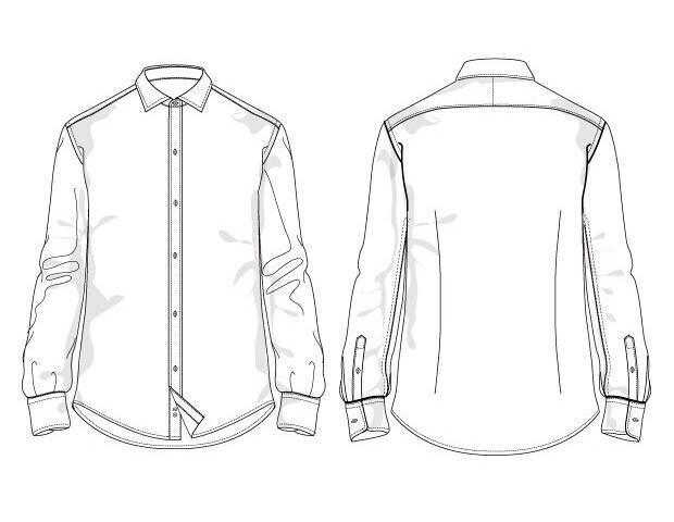 男裝襯衫款式圖收集-男裝設計-服裝設計