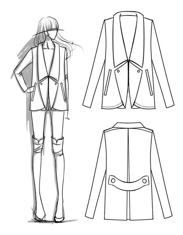 外套服裝款式圖收集-女裝設計-服裝設計