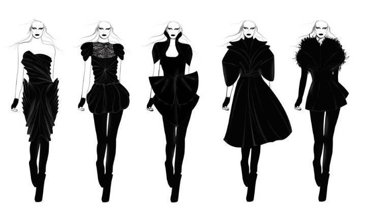 时装电脑效果图收集-女装设计-服装设计