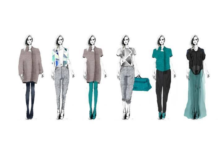 时装手绘效果图收集-女装设计-服装设计
