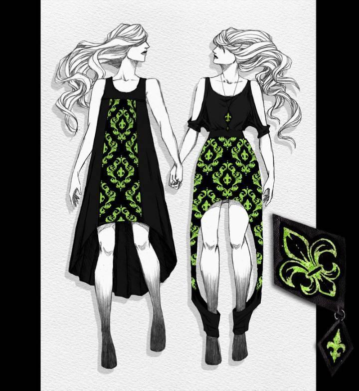 时装手绘效果图收集-毛衫针织设计-服装设计