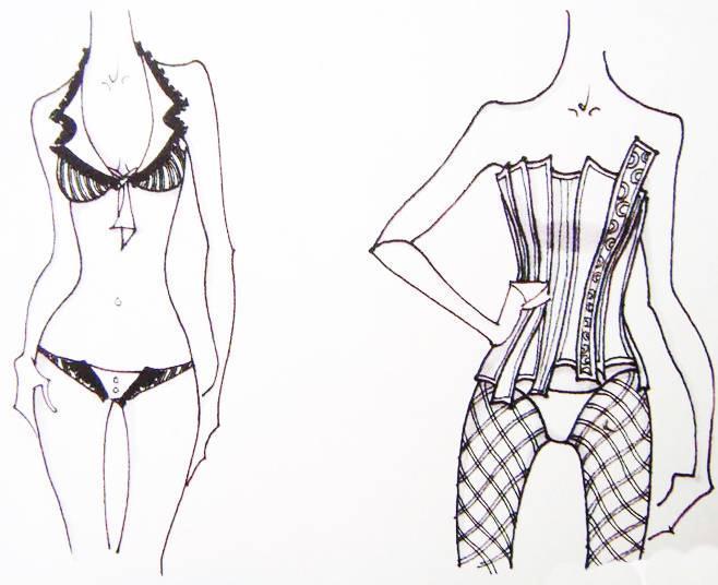 内衣设计手稿收集作品-内衣设计手稿收集款式图