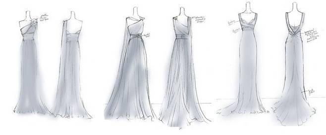 婚纱礼服设计手绘效果图收集