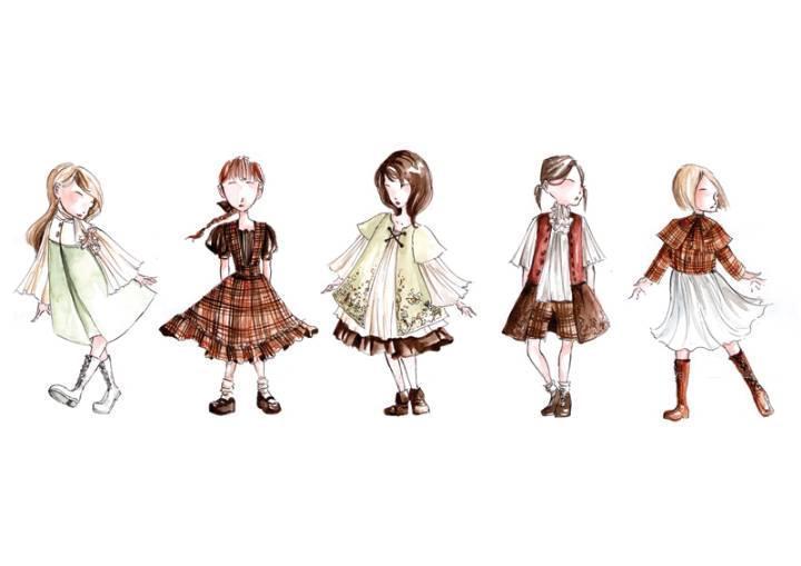 童装时装设计手稿-童装设计-服装设计