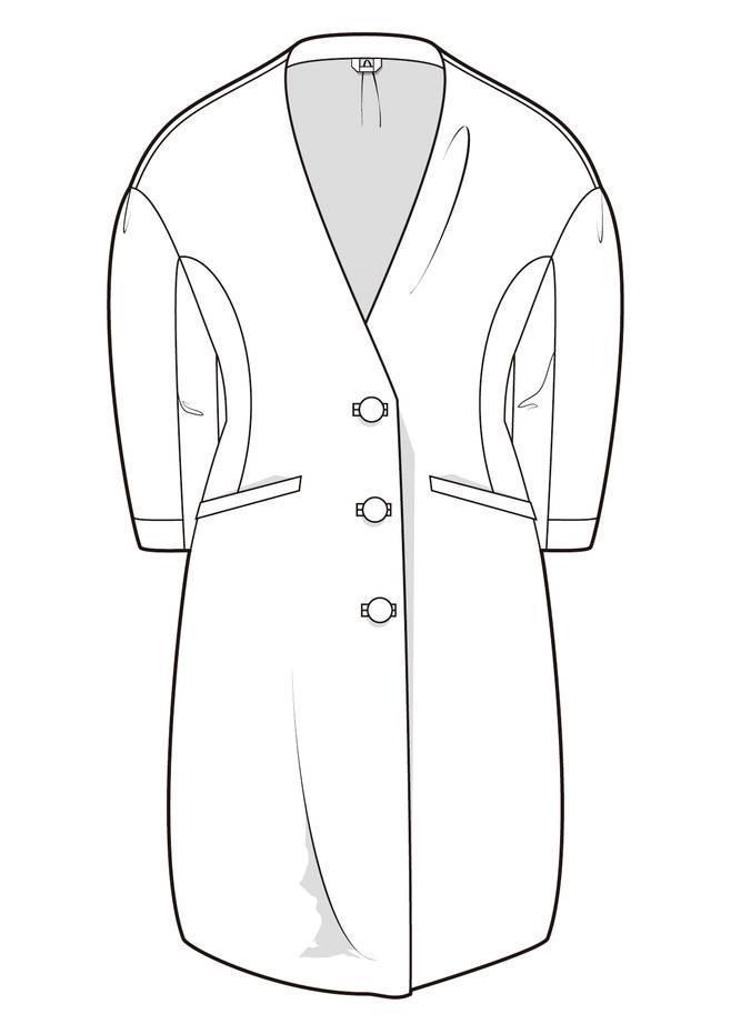 大衣服裝款式圖收集-女裝設計-服裝設計
