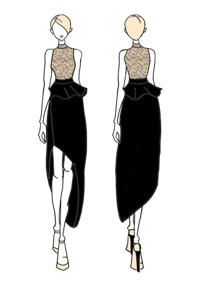 连衣裙小礼裙收录-女装设计-服装设计