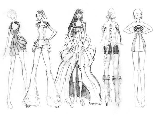 女时装手绘效果图收录-女装设计-服装设计