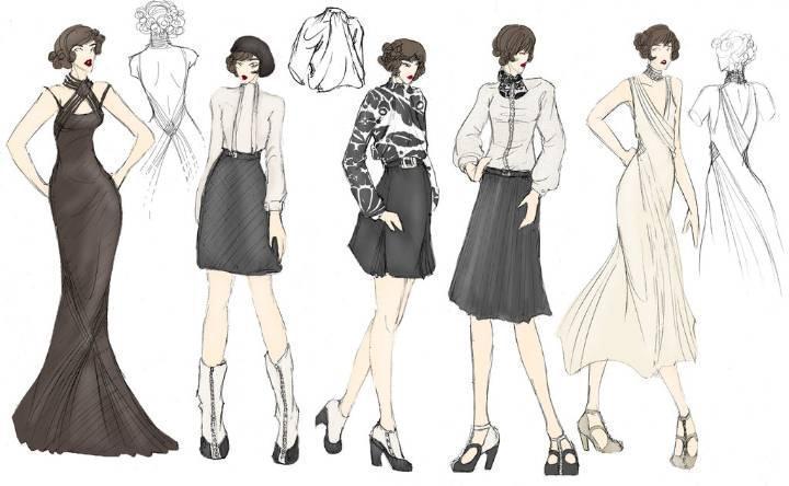 时装效果图手稿收录-女装设计-服装设计
