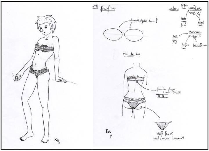 内衣设计手绘效果图收录