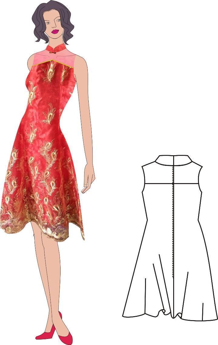 改良旗袍-婚纱礼服设计-服装设计