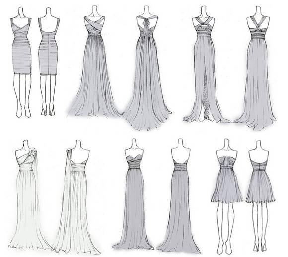 婚纱礼服设计手稿收录