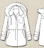 休闲女外套款式图