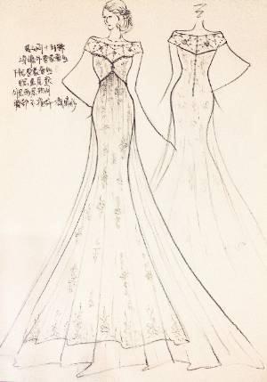 鱼尾款婚纱-婚纱礼服设计-服装设计-服装设计网手机版