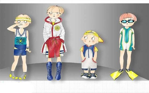 童装效果图-童装设计-服装设计
