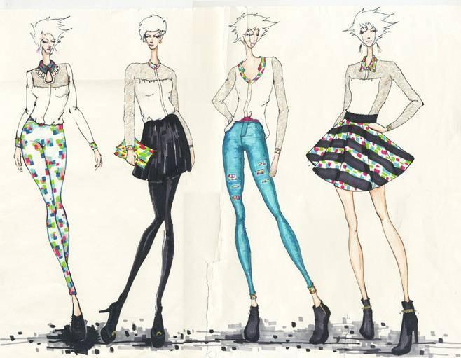女时装手绘效果图-女装设计-服装设计