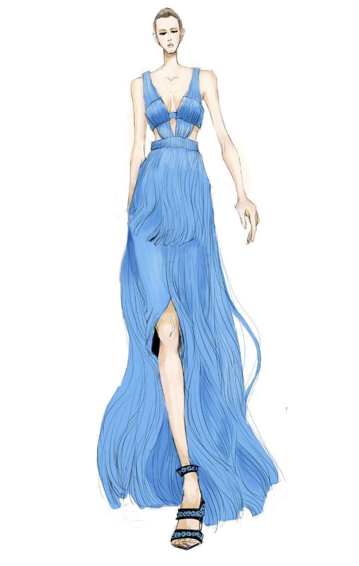礼服设计作品-礼服设计款式图图片