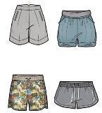 短装女裤款式图