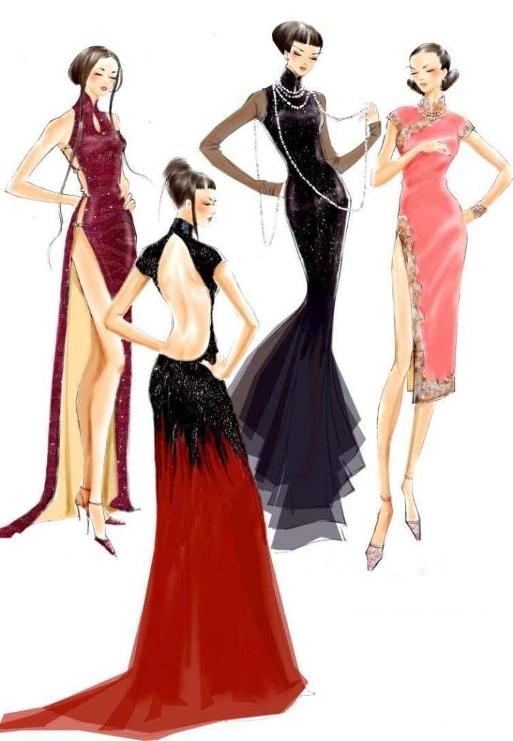 晚礼服设计作品收集-婚纱礼服设计-服装设计