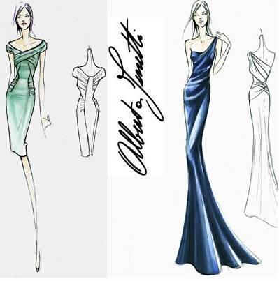 晚礼服手稿收集-婚纱礼服设计-服装设计