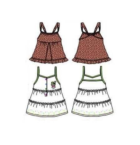 童装连衣裙子款式图